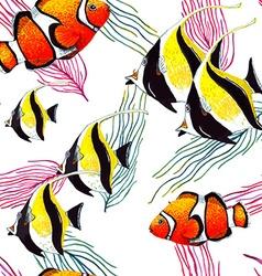 Fish Pattern5 vector image