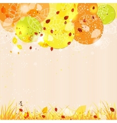 Autumn template background with abstract tree vector