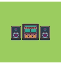 Stereo flat icon vector