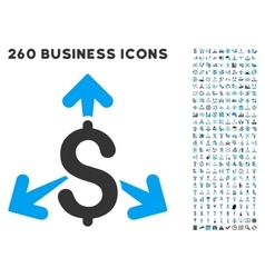 Spend money icon with flat set vector