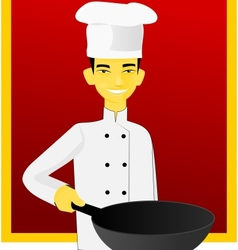 Asian cook vector image vector image