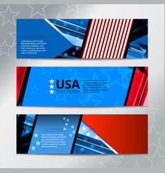 Banner flag of american vector