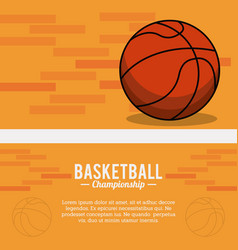 Basketball sport ball championship poster vector