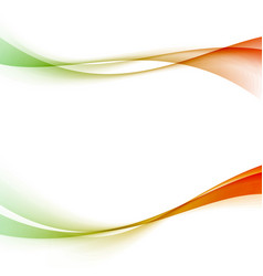 colorful green blue gradient swoosh waves vector image