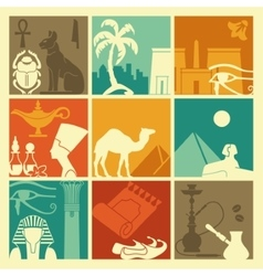 Egyptian symbols vector image