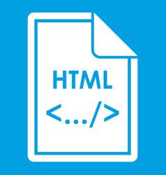 File html icon white vector