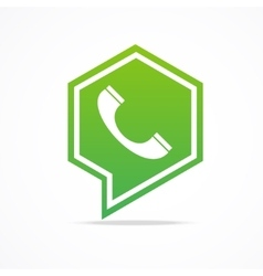 Green Phone Icon vector image vector image