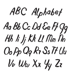 Hand drawn ABC letters Alphabet vector image vector image
