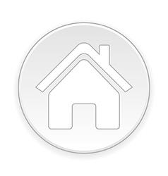Home symbol button vector image vector image