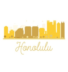 Honolulu city skyline golden silhouette vector