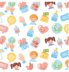 icon set children donate vector image vector image