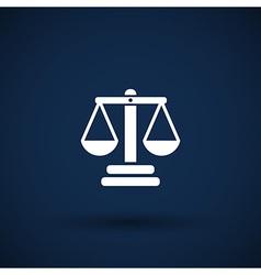 justice icon symbol measurement balance vector image vector image