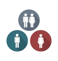 Man and woman restroom sign vector