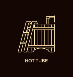 Modern line style hot tub logotype template vector
