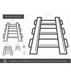 Railroad track line icon vector
