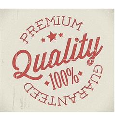 Retro premium quality stamp vector