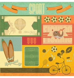 Retro sport card vector