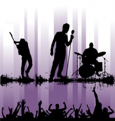 rock concert vector image