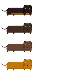 Seamless pattern of dachshunds vector