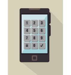 Security password mobile phone icon graphic vector