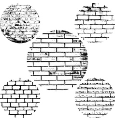 Set brick wall vector