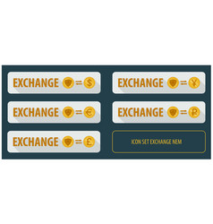 Set rectangular horizontal buttons exchange vector