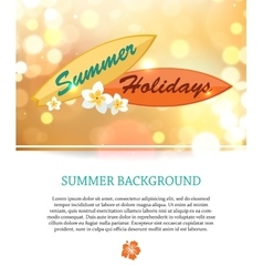 Shining summer paradise holidays background with vector image vector image