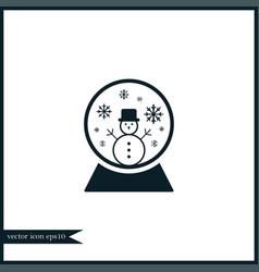 snow globe icon simple vector image