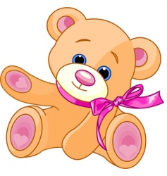teddy bear showing vector image