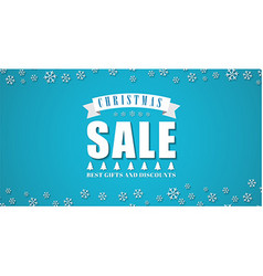 Template blue background for the Christmas sales vector image