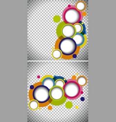 Two background templates with round shapes vector