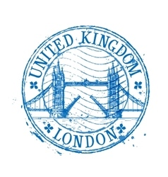 United Kingdom logo design template stamp vector image vector image