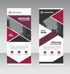 Purple pink business roll up banner flat design vector