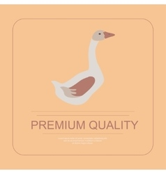 Goose in flat design vector