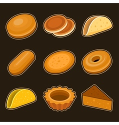 Baking icon set vector