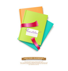 Colorful stack of books brochures isolated vector