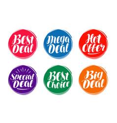 business sale label set hot offer best deal vector image