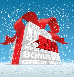 Winter Big Sale 3d Text vector image