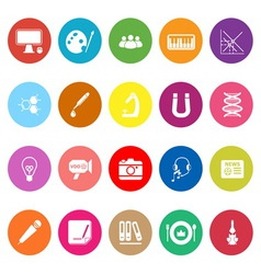 General learning flat icons on white background vector image