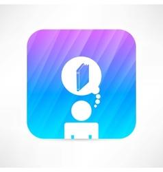 Knowledge icon vector