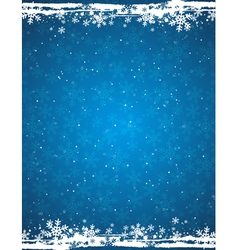 Blue grunge christmas background vector