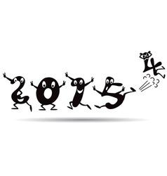 Happy New Year 2015 - cartoon style vector image