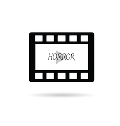 Film tape horror vector
