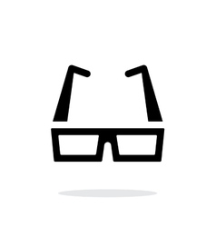 Modern glasses simple icon on white background vector