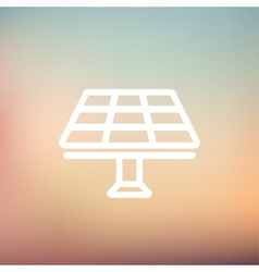 Solar panel thin line icon vector