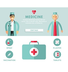 Profession concept medicine flat design concepts vector