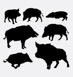 Wild boar silhouette vector