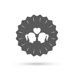 Lesbian couple sign icon woman love woman vector