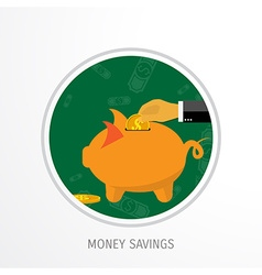 Money savings concept vector