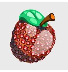 Red apple made of precious stones rubies vector
